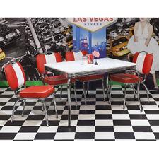 Essgruppe Elvis 1 Tischgruppe American Diner 50er Jahre Retro Edelstahl weiß rot