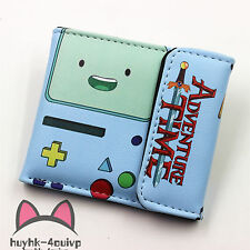 wallet Adventure Time BMO Leather Wallet Cosplay BMO Purse Two-Fold Purse HDFHDF