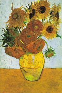 150 Pieces Jigsaw Puzzles Adults Van Gogh Sunflowers Painting Decor 6x4 Inches