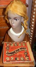 Antique 1920s 30s BLONDE CHARACTER Wig Theater Reenactment VTG Drama RACIST BOX