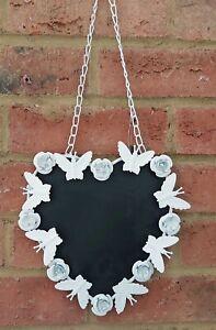 Butterfly Flower Heart Notice Memo Chalk Board Wedding Gift Love 21cm  Hang New
