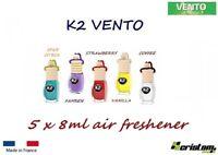 5C x 8 ml K2 VINCI VENTO CAR HOME AIR FRESHENER FRAGRANCE PERFUME HANGING BOTTLE
