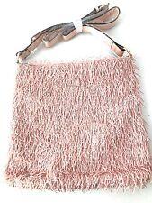 Fringed Crossbody Pink Handbag Fully Lined Fashion Purse Great Design