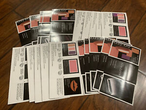 Lot Of 60+ Mary Kay Color Mixed Color Sample - Eye, Lip, Cheek 20 Color Cards