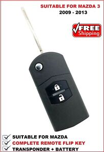 REMOTE FLIP CAR KEY SUITABLE FOR MAZDA 3  - 2009 2010 2011 2012 2013 Type4