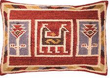 ❤ Birdsong lana algodón cubierta Cojín Geométrico 35 X 50cm Multi Color Plain atrás