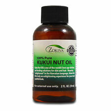 Kukui Nut Oil 100% Pure Natural Skin and Hair Care, 2 fl. oz. (59ml)