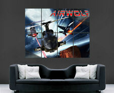 AIRWOLF POSTER HELICOPTER CLASSIC TV SERIES RETRO FILMHUGE WALL ART PRINT