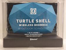 OUTDOOR TECHNOLOGY TURTLE SHELL WIRELESS BLUETOOTH WEATHERPROOF BOOMBOX BLUE NEW