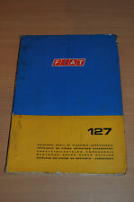 Ersatzteilkatalog Karosserie FIAT 127 1973 Gebrauch Ausführungen Tabellen