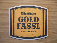Gold Fassl - 1980's beer mat from Munich Beer Festival / Oktoberfest