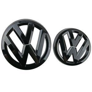 Front & Rear Glossy Black Logo Emblem Badge For VW Volkswagen Golf MK7 2013-ON