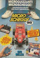 X4181 GIG NIKKO Micro Schegge Microguizzanti - Pubblicità 1990 - Advertising