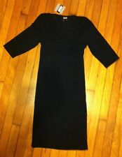 NWT NOM Maternity Nursing Breastfeeding Dress 3/4 Sleeve Black XSMALL Like BOOB