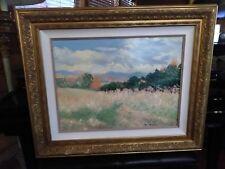 Original Oil Painting Signed Dee McCollum WildFlower Landscape Beautiful Frame
