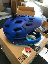 Bell Super 3R MIPS Matte Bright Blues Full Face Mountain Bike Helmet Size Large