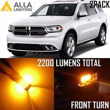 Alla Lighting Front Turn Signal Light 3157 Amber LED Blinker Bulb Lamp for Dodge