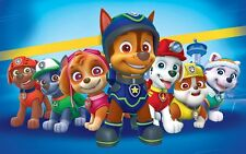 PAW PATROL DOGS CHILDREN TV SHOW WALL ART CANVAS PICTURE PRINT VARIOUS SIZES
