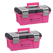 2 Stk. Tragbarer Werkzeugkasten Kunststoffspeicher Pink Lady Inner Layer Toolbox
