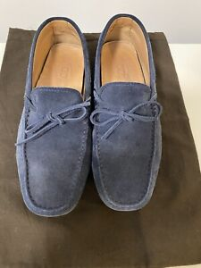 TODS Gommino heaven suede driving shoes Loafers Navy Sz 8 42