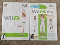Lot of 2 Nintendo Wii Games: Wii Fit & Wii Fit Plus