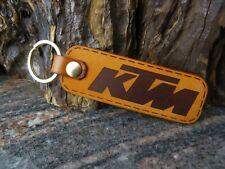 KTM leather key ring, motorcycle biker Key chain, Keyring fob, 181