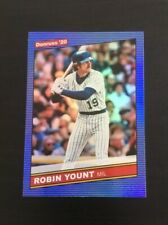 Robin Yount 2020 Donruss 1986 Retro Holo BLUE #233  Milwaukee Brewers HOF