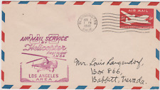LETTRE AERIENNE USA  AIR MAIL SERVICE HELICOPTERE LOSANGELES BABBIT NEVADA 1948