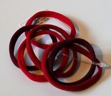 Élastiques cheveux lot de 6 attaches sans métal coloris rouge fabriqué en Italie