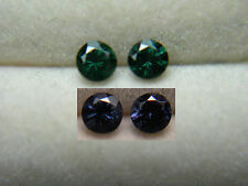 2 Color Change Garnet Gems RARE Green Purple Bekily Madagascar diamond cut gb01