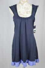 Tommy Hilfiger Womens Large Navy Blue Tank Top Nightgown NEW Sleepwear Pockets