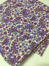 Vintage Viyella or Challis Fabric 2.50 metres long x 92 cm wide Purple Paisleys