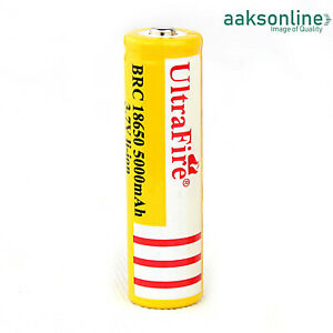 1x 5000mAh Lithium li-ion Accu 18650 Akku Batterien Wiederaufladbar
