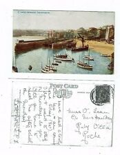 CORNISH POST CARD OF NEWQUAY THE HARBOUR