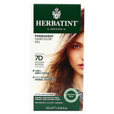 Herbatint Permanent Herbal Hair Color Gel, 7D ,Clearance for Dented Box