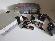Nintendo NES-001 console Bundle, Huge Lot 20 games, 2 controllers, gun