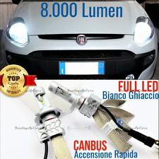 Kit fari FULL LED CANBUS PER Fiat Punto Evo ANABBA+ABBA H4 6500K 8000LM GHIACCIO