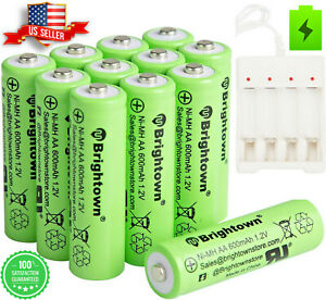 4/16/24 Pcs AA Rechargeable Batteries NiCd 700mAh 1.2v Battery & AA/AAA Charger