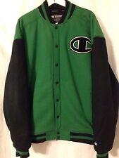 Champion Green And Black XXL 2XL Snap Varsity Jacket Coat