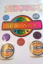 SEX WAX STICKERS 14 Vintage Collect DYE CUT FOIL & VINYL STICKERS Made ships USA