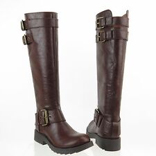 Women's Nine West Aragosta Shoes Brown Synthetic Round Toe Boots Size 5 M NEW!