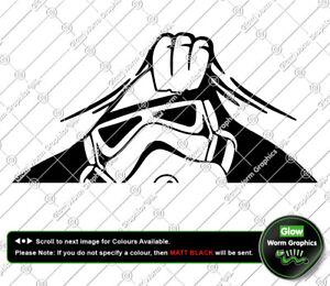 Peeking Stormtrooper Star Wars Car Funny Novelty VW DUB JDM Sticker Vinyl Decal