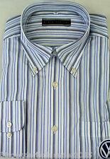 Gestreifte Klassische Herrenhemden mit Sportmanschette-Ärmelart aus Baumwollmischung ohne Mehrstückpackung