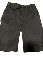Lands End Boys Black Adjustable Waist Chino Uniform Shorts size 16