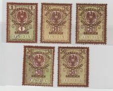 Austria 1920s Old Revenues, Crown Eagle Arm (5v) Fine Used