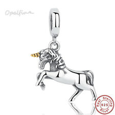 925 Sterling Silver Free Spirit Horse Charm Fit WST Bracelet / Necklace