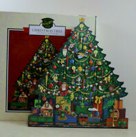 "Byers' Choice Wooden Christmas Tree  Advent House Calendar 20"" High"
