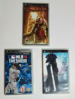 PSP Empty Case + Manuals Lot (God of War, Final Fantasy, MLB) (No Games)