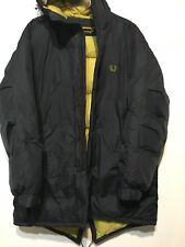 FRED Perry Vintage men's Parka Down Giacca Taglia XL Big Logo