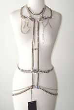 DSQUARED² Jeweled Swarovski Crystal Necklace Belt Body Chain Harness